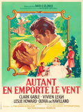 "Movie Posters:Academy Award Winners, Gone with the Wind (Selznick International, R-1954). French Grande(46.25"" X 62.5"") Roger Soubie Artwork.. ..."