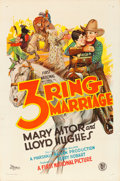 "Movie Posters:Drama, 3 Ring Marriage (First National, 1928). One Sheet (27"" X 41"").. ..."