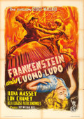 """Movie Posters:Horror, Frankenstein Meets the Wolf Man (International Pictures Corp., 1949). First Post-War Release Italian 2 - Fogli (39.25"""" X 55""""..."""
