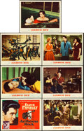 "Movie Posters:Elvis Presley, Jailhouse Rock (MGM, 1957). Title Lobby Card & Lobby Cards (6)(11"" X 14"") Bradford Crandell Title Card Artwork.. ... (Total: 7Items)"