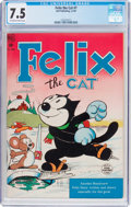 Golden Age (1938-1955):Funny Animal, Felix the Cat #7 (Dell, 1949) CGC VF- 7.5 Off-white to whitepages....