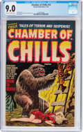 Golden Age (1938-1955):Horror, Chamber of Chills #14 (Harvey, 1952) CGC VF/NM 9.0 Off-white towhite pages....