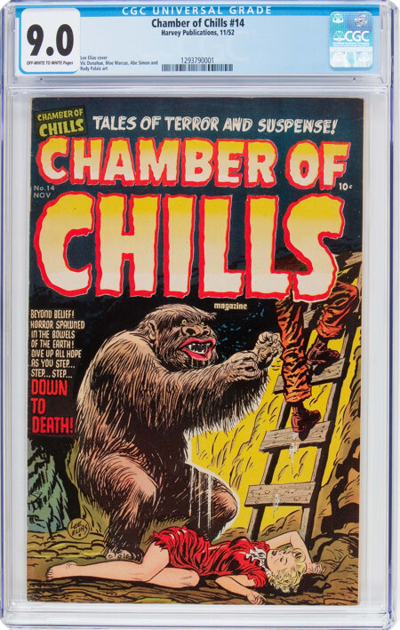 Chamber of Chills #14 (Harvey, 1952) CGC VF/NM 9.0 Off-white to white pages....