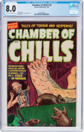Golden Age (1938-1955):Horror, Chamber of Chills #16 (Harvey, 1953) CGC VF 8.0 Cream to off-whitepages....