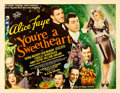 "Movie Posters:Musical, You're a Sweetheart (Universal, 1937). Half Sheet (22"" X 28"").. ..."