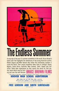 "The Endless Summer (Bruce Brown Films, 1965). Special Screening Poster (11"" X 17""). John Van Hamersveld Artwor..."