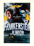 "Movie Posters:Comedy, Young Frankenstein (20th Century Fox, 1974). Retouched Matted Printon Board by John Alvin (Print: 14"" X 22"", Board: 18.5"" X... (Total:2 Items)"