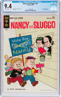 Nancy and Sluggo #191 (Gold Key, 1963) CGC NM 9.4 Off-white to white pages