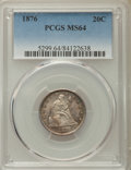 Twenty Cent Pieces, 1876 20C MS64 PCGS. BF-2, R.2....