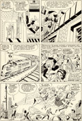Original Comic Art:Panel Pages, Jack Kirby and Paul Reinman X-Men #2 Story Page 2 OriginalArt (Marvel, 1963)....