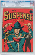 Golden Age (1938-1955):Miscellaneous, Suspense Comics #7 (Continental Magazines, 1944) CGC FN- 5.5 Off-white to white pages....