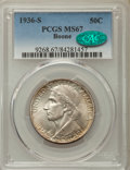 Commemorative Silver, 1936-S 50C Boone MS67 PCGS. CAC. PCGS Population: (70/3). NGCCensus: (35/3). CDN: $750 Whsle. Bid for problem-free NGC/PCG...