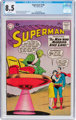 Superman #136 (DC, 1960) CGC VF+ 8.5 White pages