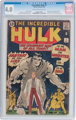 The Incredible Hulk #1 (Marvel, 1962) CGC VG 4.0 Cream to off-white pages
