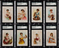 "Non-Sport Cards:Sets, 1891 N194 Kimball & Co. ""Household Pets"" SGC-Graded Partial Set(8/24). ..."