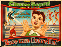 """A Star is Born (Warner Brothers, 1954). Argentinean Poster (29"""" X 43""""). Musical"""