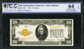 Small Size:Gold Certificates, Fr. 2402 $20 1928 Gold Certificate. PCGS Choice Unc 64 OPQ.. ...