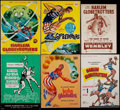 Basketball Collectibles:Programs, 1954-67 Harlem Globetrotters Basketball Program Collection (6). ...