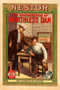 "Movie Posters:Western, The Regeneration of Worthless Dan (Universal, 1912). One Sheet(28.5"" X 42.5"").. ..."