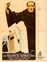"The Passion of Joan of Arc (L'Alliance Cinematograique Europeenne, 1928). French Grande (47.5"" X 62.75""). R. M..."