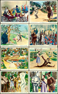 "The Wizard of Oz (MGM, R-1949). British Front of House Color Photo Set of 8 (8"" X 10""). ... (Total: 8 Items)"