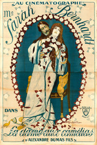 "La Dame aux Camélias (Le Film d'Art, 1911). French Double Grande (63"" X 93.75"") Dreville Artwork"