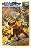 "Movie Posters:Action, The Strength of Men (Vitagraph, 1913). Foreign Poster (51.5"" X 79"") Harry Bedos Artwork.. ..."