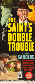 "Movie Posters:Mystery, The Saint's Double Trouble (RKO, 1940). Trimmed Australian Daybill(14.5"" X 34.5"").. ..."