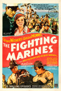 "Movie Posters:Serial, The Fighting Marines (Mascot, 1935). One Sheet (27"" X 41"").. ..."