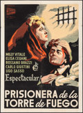 """Movie Posters:Foreign, Prisoner in the Tower of Fire (Peliculas Nacionales, 1953). Cuban One Sheet (27"""" X 37""""). Foreign.. ..."""