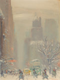 American:Impressionism, Johann Berthelsen (American, 1883-1972). Fifth Avenue inWinter. Oil on canvasboard. 12 x 9 inches (30.5 x 22.9 cm).Sig...