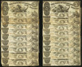Obsoletes By State:Louisiana, Baton Rouge, LA- State of Louisiana $5 Oct. 10, 1862 Cr. 10, Twenty-Five Examples. ... (Total: 25 notes)