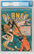 Golden Age (1938-1955):Science Fiction, Planet Comics #19 (Fiction House, 1942) CGC FN/VF 7.0 Cream to off-white pages....
