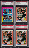 Baseball Cards:Lots, 1975 Topps Gary Carter and 1978 Topps Eddie Murray PSA NM-MT 8Graded Rookie Quartet (4)....