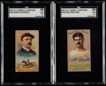 """Olympic Cards:General, 1887 N184 Kimball """"Champions"""" SGC-Graded Pair (2) - One of EachType. ..."""