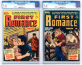 Golden Age (1938-1955):Romance, First Romance #11 and 12 CGC-Graded File Copy Group (Harvey, 1952) CGC VF/NM 9.0 Cream to off-white pages.... (Total: 2 Comic Books)