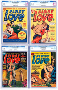 First Love Illustrated CGC-Graded File Copy Group of 4 (Harvey, 1950-52) CGC VF 8.0 Light tan to off-white pages.... (To...