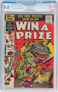 Win A Prize Comics #2 (Charlton, 1955) CGC VF/NM 9.0 Off-white pages
