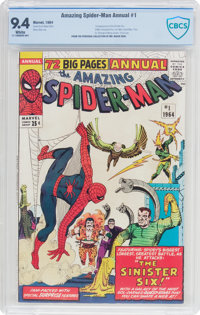 The Amazing Spider-Man Annual #1 (Marvel, 1964) CBCS NM 9.4 White pages