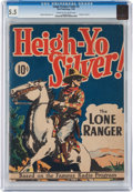 Golden Age (1938-1955):Western, Large Feature Comic (Series I) #3 Heigh-Yo Silver, The Lone Ranger(Dell, 1939) CGC FN- 5.5 Cream to off-white pages....