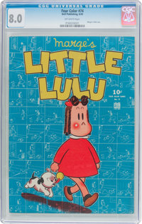 Four Color #74 Marge's Little Lulu (Dell, 1945) CGC VF 8.0 Off-white pages