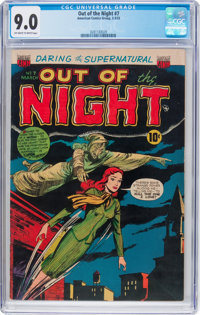 Out of the Night #7 (ACG, 1953) CGC VF/NM 9.0 Off-white to white pages