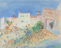 Fine Art - Work on Paper:Watercolor, Jean Dufy (French, 1888-1964). Les Baux-de-Provence.Watercolor on paper. 18-1/2 x 23-1/2 inches (47.0 x 59.7 cm).Signe... (Total: 2 Items)