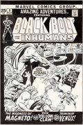 Original Comic Art:Covers, John Buscema and Joe Sinnott Amazing Adventures #9 Cover Inhumans Original Art (Marvel, 1971)....