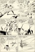 Original Comic Art:Panel Pages, Jack Kirby and Paul Reinman X-Men #2 Story Page 7 FirstDanger Room Appearance Original Art (Marvel, 1963)....