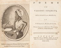Phillis Wheatley. Poems on Various Subjects, Religious and Moral. By Phillis Wheatle