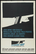 "Movie Posters:War, In Harm's Way (Paramount, 1965). One Sheet (27"" X 41""). War. ..."