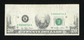 Error Notes:Missing Face Printing (<100%), Fr. 2072-K $20 1977 Federal Reserve Note. Very Fine-ExtremelyFine.. ...