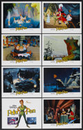 "Movie Posters:Animated, Peter Pan (Buena Vista, R-1982). Lobby Card Set of 8 (11"" X 14"").Animated. ... (Total: 8 Items)"