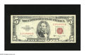 Error Notes:Gutter Folds, Fr. 1534 $5 1953B Legal Tender Note. Crisp Uncirculated. Errors onLegals are extremely scarce. This example has a gutter th...